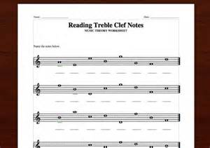 Reading Music Notes Theory Treble Clef Worksheet