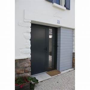 porte d entree alu gris anthracite 4 porte dentr233e With porte d entrée alu avec plan de travail pour vasque de salle de bain