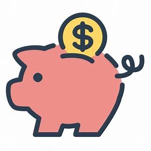 Coin, money, piggy, resolutions, save money, savings Icon ...