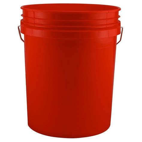doors made to order leaktite 5 gal red bucket pack of 3 209333 the home