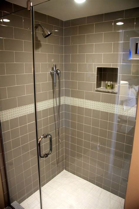 shower tile with taupe subway tile bathrooms