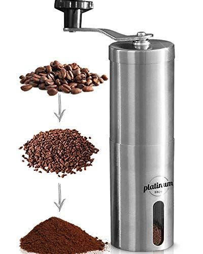 Find the top 100 most popular items in amazon home & kitchen best sellers. Manual Coffee Grinder Premium Burr Coffee Grinder Adjustable Setting Conical Burr Mill & Brushed ...