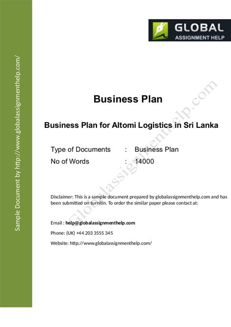 business plan   company assignment sample