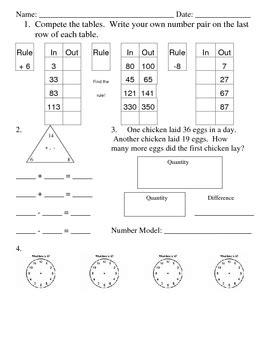 everyday math 5th grade worksheets math worksheets