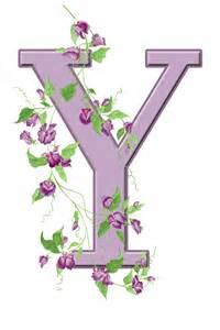 Floral Monogram Letter Y