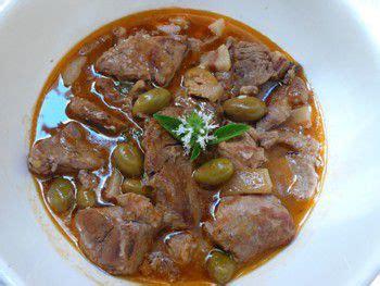 cuisine corse veau aux olives veau aux olives recette aftouch cuisine