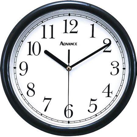 walmart kitchen clocks advance 10 quot plastic wall clock black walmart