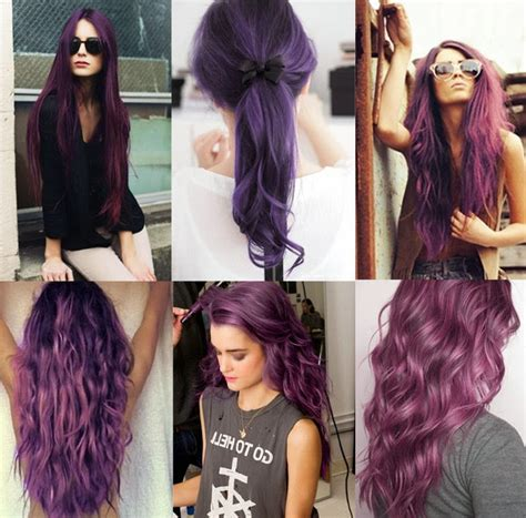 violet hair color ideas purple shades purple hair color ideas hairstyles for