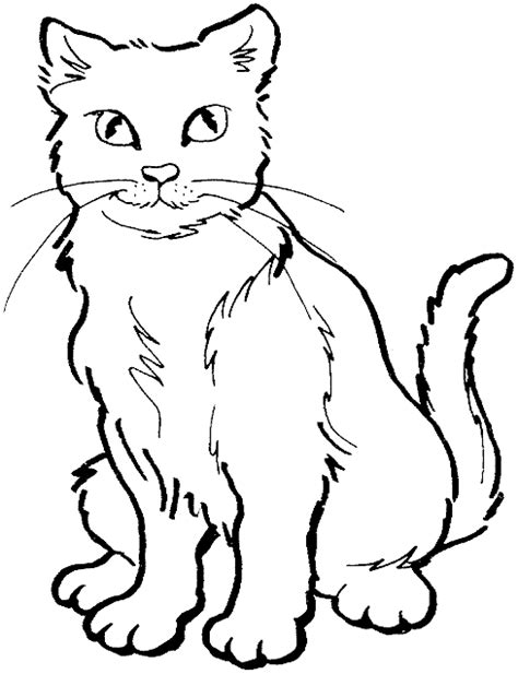cat coloring page getcoloringpagescom