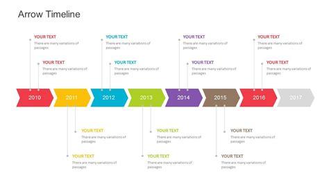 arrow timeline template  powerpoint fully editable