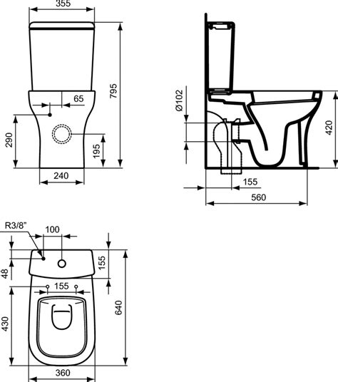 Bathroom Sink And Toilet Units by Product Details T3253 Close Coupled Wc Bowl Ideal