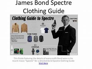 James Bond Spectre Clothing Guide