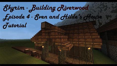 minecraft house tutorial skyrim building riverwood episode  youtube