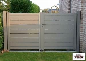 Portail Sur Mesure Castorama : portail aluminium maez tori portails ~ Carolinahurricanesstore.com Idées de Décoration