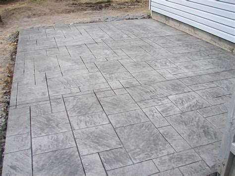 concrete patterns slate sted concrete patios big rock rock with slate sted concrete top sted concrete