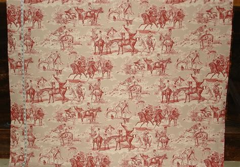victorian horse toile fabric  pattern  july