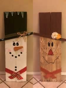 super cute wooden scarecrow snowman great  indoor