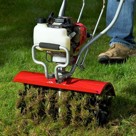 lawn aeration lawn aerator attachment xp tiller models mantis garden tools