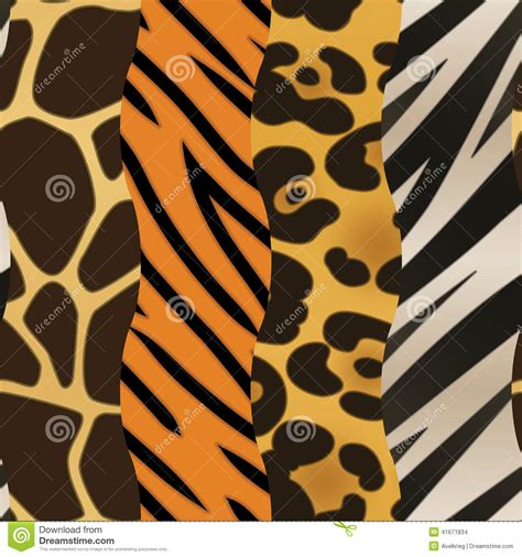 animal print background stock vector illustration