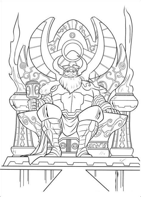 Kleurplaat Thor by Kleurplaten En Zo 187 Kleurplaat Thor
