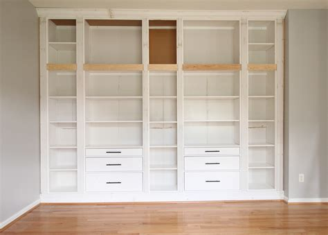Diy Builtin Bookcase Reveal (an Ikea Hack)  Studio 36