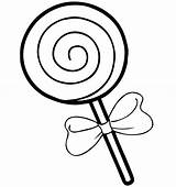 Lollipop Coloring Candy Clipart Drawing Illustration Isolated Cartoon Simple Sketch Bestcoloringpagesforkids Vector Depositphotos Children Colouring Printable Sheets Clipartmag Illustrations Ice sketch template