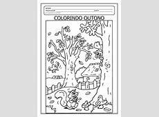 Ditado e colorindo com o tema outono EM PDF Atividades