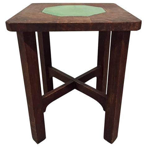gustav stickley grueby tile top table for sale at 1stdibs