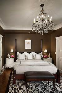 Behr, Perfect, Taupe, Bedroom, Traditional, With, Crown, Molding
