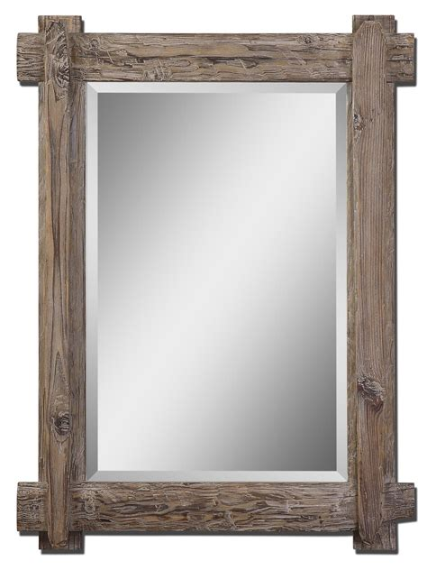 Wood Frame Mirror For Bathroom by Mirrors Beveled Reclaimed Wood Mirror Rustic Wood Mirror