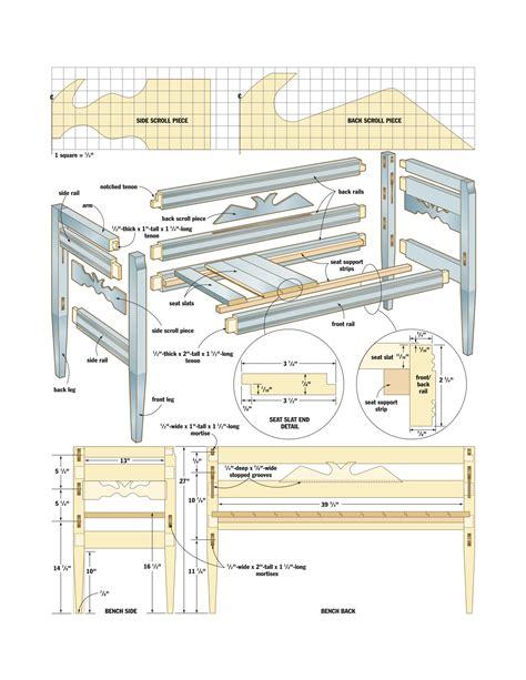 ukrainian bench woodworking plans woodshop plans