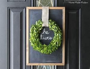 Make An Easter Wreath In 10 Minutes Home Made Modern