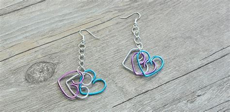 easy wire wrapped heart earrings fun family crafts