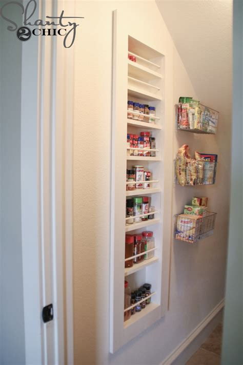 Do It Yourself Spice Rack by Diy Built In Spice Rack Free Plans And Tutorial Shanty