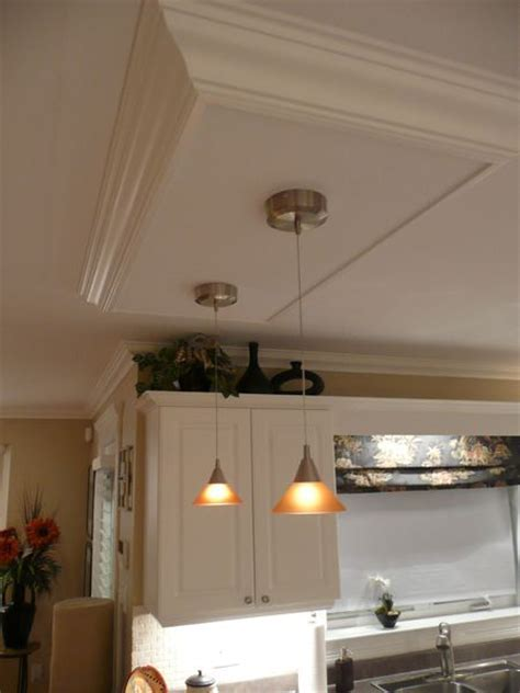 Kitchen Island Ceiling Light Box     DIY Home projects