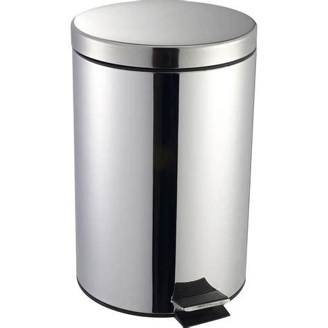 poubelle cuisine pedale poubelle de cuisine à pédale selekta métal inox 20 l