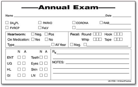 Veterinary physical exam template costumepartyrun famous ophthalmology exam template motif example resume maxwellsz