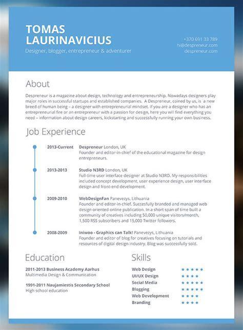 cv resume templates html psd indesign
