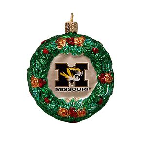 mizzou wreath ornament