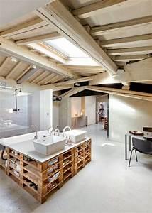 Meubles palettes en bois diy en 99 idees creatives pour for Salle de bain design avec décoration mariage antillais