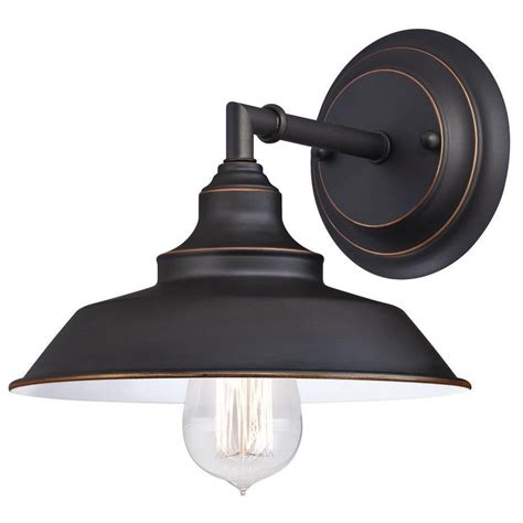 home depot rubbed bronze bathroom light fixtures westinghouse iron hill 1 light rubbed bronze wall