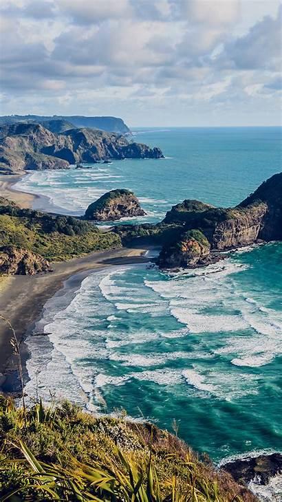 Zealand Ocean Sea Nature Water Iphone Papers