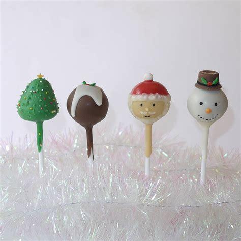 christmas cake pops novelty christmas cake pops by the cake pop company notonthehighstreet com