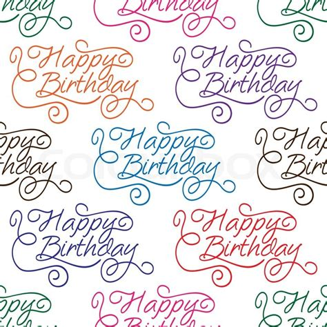 happy birthday seamless background pattern with text