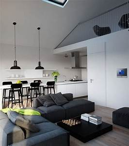gorgeous visualization with loft style apartments decor With salle a manger 30m2