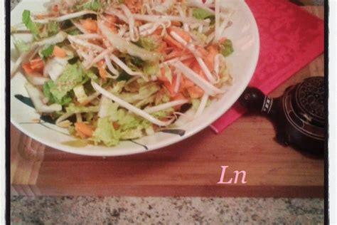 recette de salade de chou chinois carottes  germes de soja