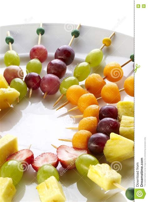 canapes fruit different sort of fruit canape royalty free stock photo