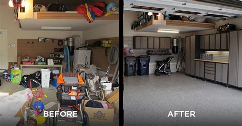 Living Room Makeovers Before And After Pictures by Garage Makeover Ideas Garage Living