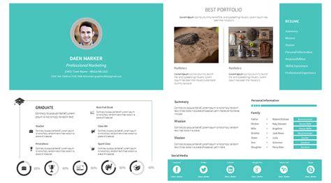 Portfolio Cv free personal resume cv portfolio on behance