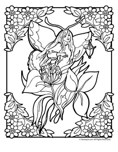 flower fairy coloring page  woo jr kids activities